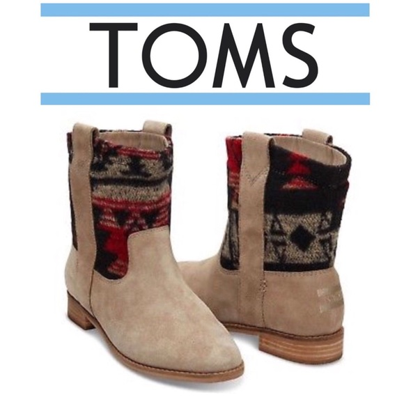 045e8be2159b Toms Shoes | Tribal Laurel Suede Boot Desert Taupe Nib Sz7 | Poshmark